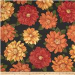 0283115 Pumpkin Spice Large Flowers Black