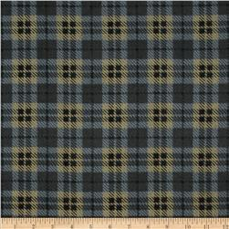 Moda Wool & Needle Flannel II Bold Plaid Black
