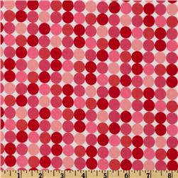 Santa's Workshop Flannel Dot Pink
