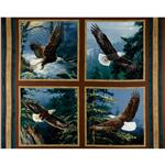 238464 Wild Wings All He Surveys Pillow Panel Brown