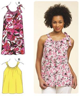 Kwik Sew Casing Top & Dress Pattern