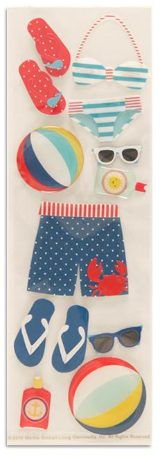 Martha Stewart Crafts Stickers Nautical Swim Suits