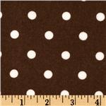 EU-436 Cozy Cotton Flannel Polka Dot Cocoa