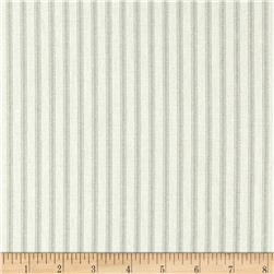 Vertical Ticking Stripe Ivory/Sage