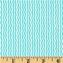 Riley Blake Hipster Crimp Stripe Aqua