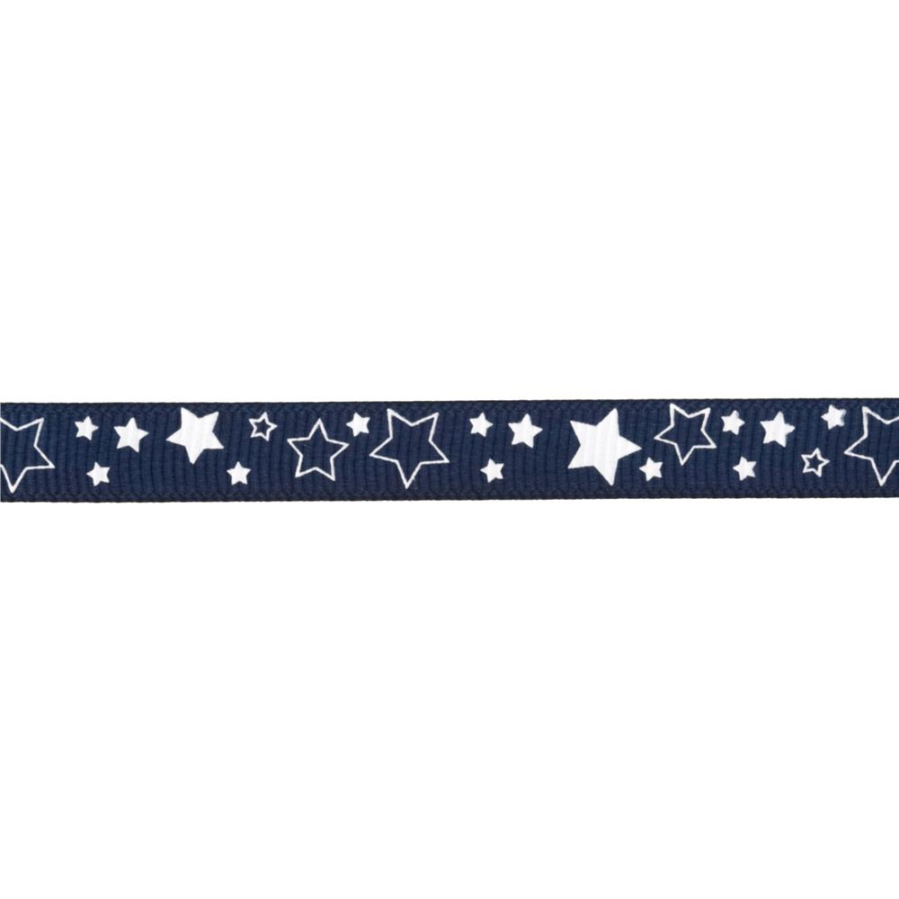 "Riley Blake 3/8"" Grosgrain Ribbon Stars Navy"