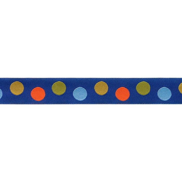 7/8'' Ribbon Dot Teal/Blue/Orange