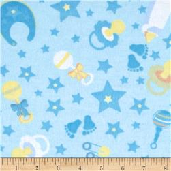 Little Nursery Flannel Nursery Icons Light Blue