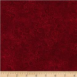 Laura Burch Swirls Dark Red
