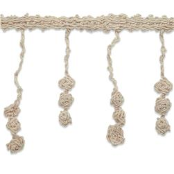 "4-1/4"" Lace Fringe Nora Victorian Trim Natural"