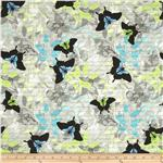 Windham Chloe Butterflies Blue/Grey