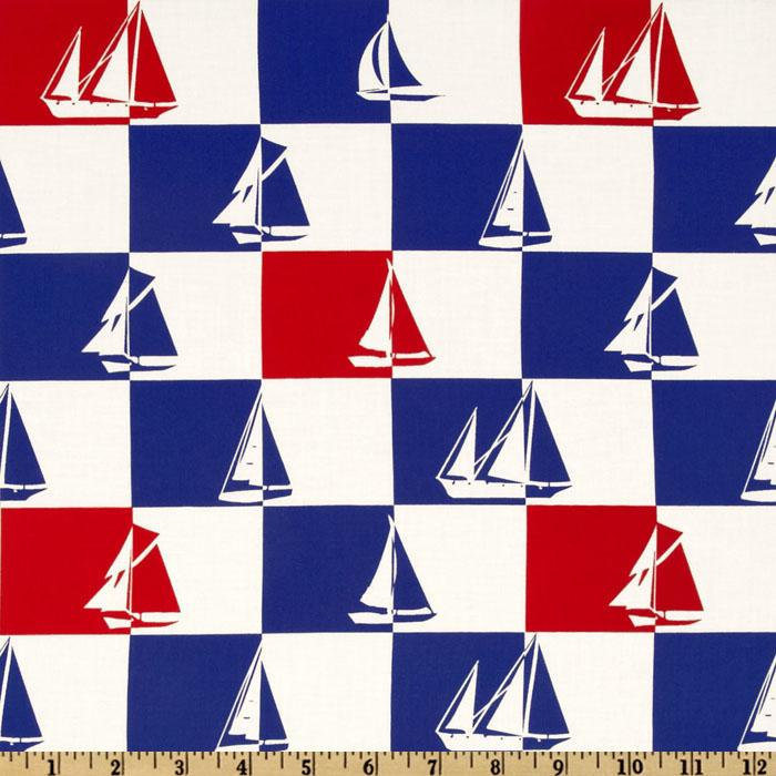 Ship Shape Sailboats Check White