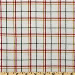 FO-332 Yarn Dyed Fun Flannel Plaid White/Red