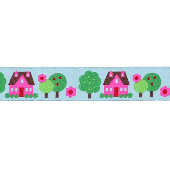 7/8&#39;&#39; Ribbon Houses Light Blue