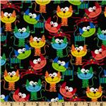 FV-027 Timeless Treasures Silly Cats Black