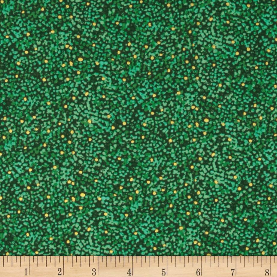 Quilting Treasures Autumn Spendor Metallic Speckle Blender Emerald