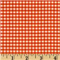 Riley Blake Small Gingham Orange