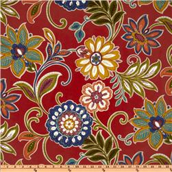 Richloom Solarium Outdoor Alinea Floral Pompeii Red