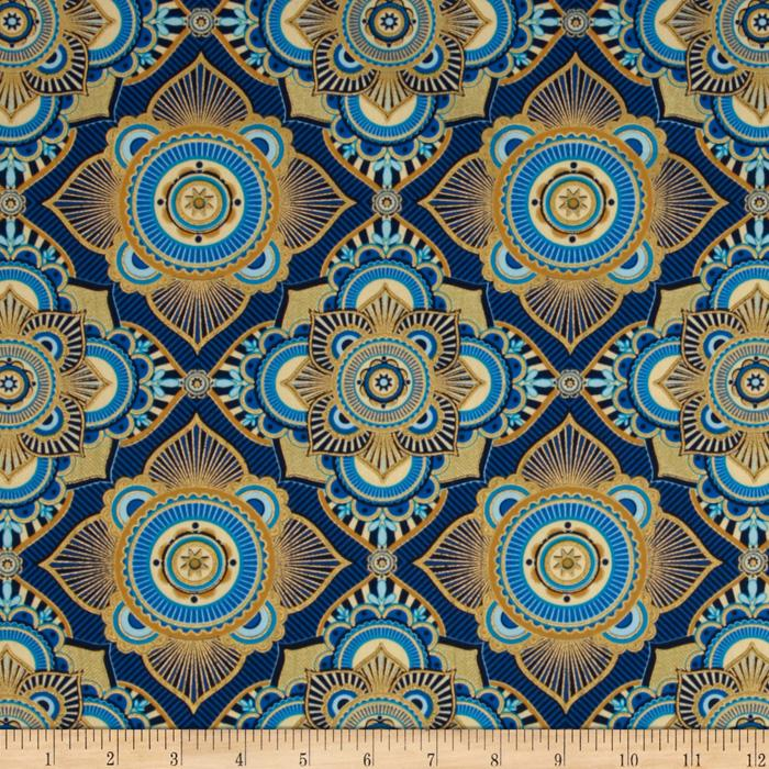 Istanbul Metallic Medallion Blue