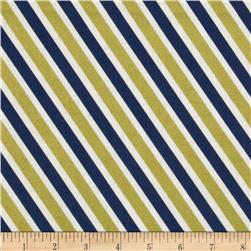In the Navy Metallic Rugby Stripe Navy/Gold