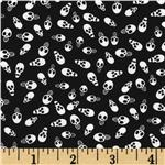 Happy Halloween Skulls Black/White