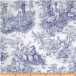 Timeless Treasures French Court Toile Navy/White