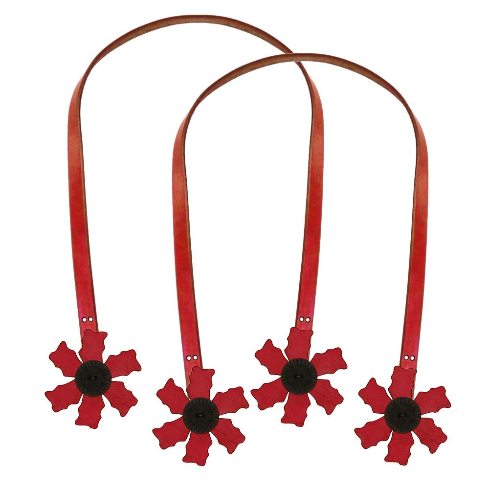 Cindy's Purse Straps 24'' Flower Red