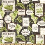 0270011 Rustic Vineyard Wine Labels Black