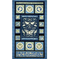 Meadowlark Butterfly Panel Dark Blue/Sage
