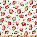 FA-817 Michael Miller Kitchen Collection Strawberry Blosssoms Berry