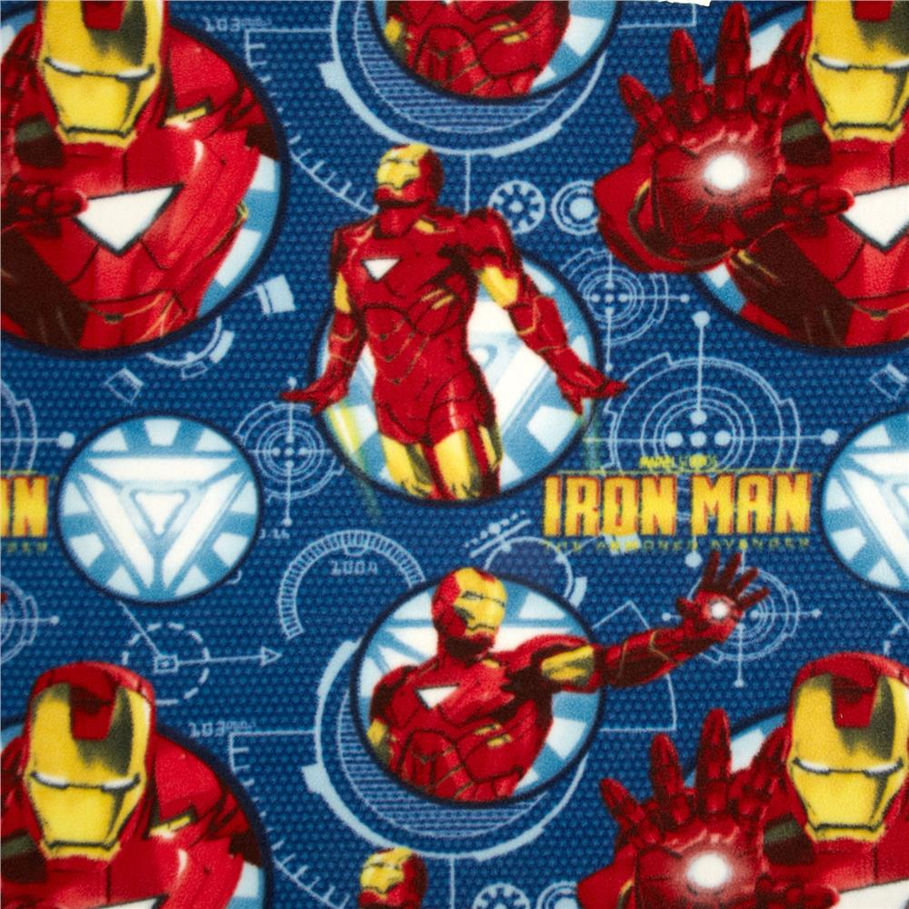 Iron Man Fleece Blue