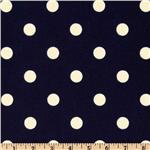 Premier Prints Indoor/Outdoor Polka Dot Deep Blue
