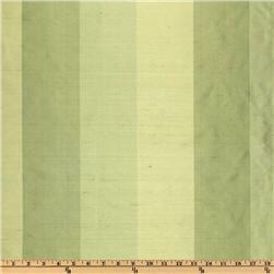 Dupioni Silk Tri-Color Stripe Limes