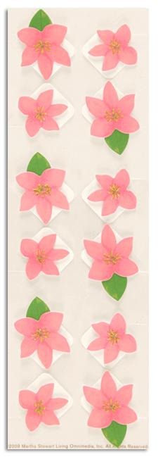 Martha Stewart Crafts Photo Corners Pink Flower