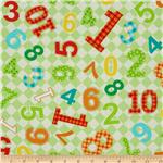 213138 Best Friends Numbers Light Green
