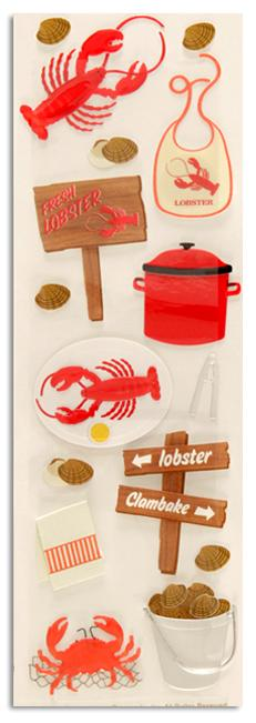 Martha Stewart Crafts Stickers Clam Bake