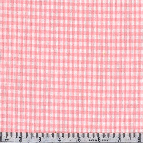 Woven 1/8&#39;&#39; Cotton Gingham Pink
