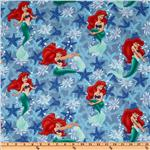 Disney Princess Mermaid Starfish Allover Blue