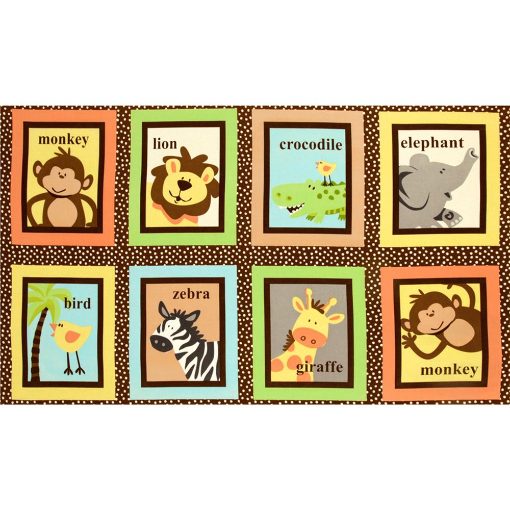 Safari Tots Animal Block Brown
