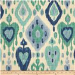 0284404 Richloom Ikat Django Turquoise