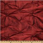 Rosette Iridescent Taffeta Burgundy