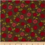 Summer House Small Floral Brown