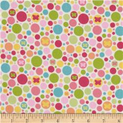Riley Blake Flannel Snug as a Bug Circle Cream