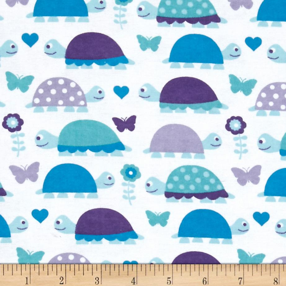 Alpine Flannel Turtles Purple