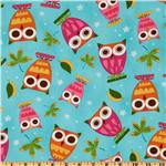 On A Whim Owls Aqua