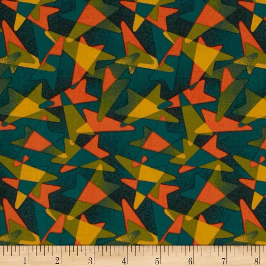 Jazz Geometric Green/Orange