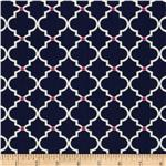 0274203 In the Navy Ogee Tile Navy
