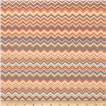 211157 Chevron Flannel Orange
