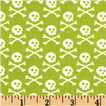 EG-999 Premier Prints Crossbones Chartreuse/White