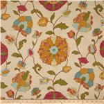 0283060 Tempo Indoor/Outdoor Floral Tan/Aqua